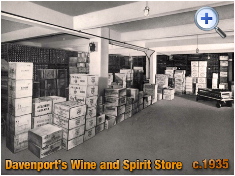 Wine and Spirit Store at Davenport's Brewery at Bath Row in Birmingham [c.1935]