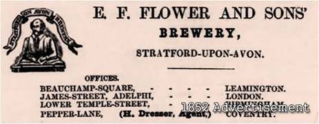 1852 Advertisement for E. F. Flowers and Son