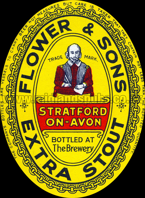 Flower and Sons Extra Stout Beer Label