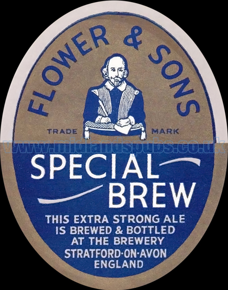 Flower and Sons Special Brew Beer Label