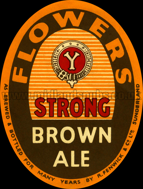 Flower and Sons Strong Brown Ale Beer Label