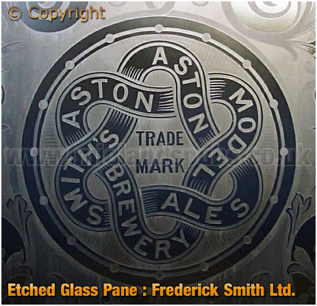 Etched Glass for Frederick Smith's Model Brewery at Aston