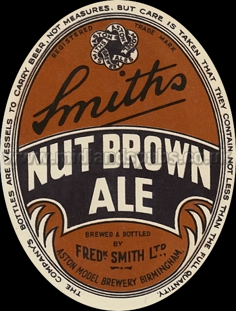 Frederick Smith's Nut Brown Ale [1950s Beer Label]