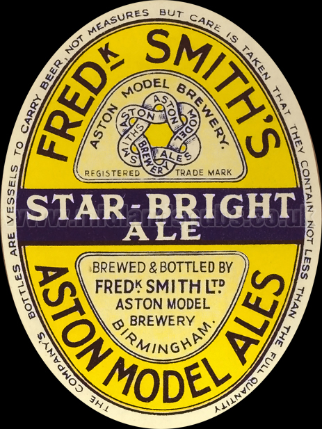 Frederick Smith's Star Bright Ale [1950s Beer Label]