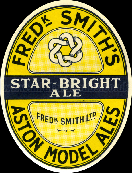 Frederick Smith's Star Bright Ale [Beer Label]