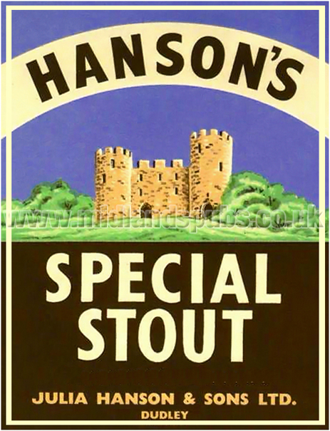 Hanson's Special Stout Beer Label