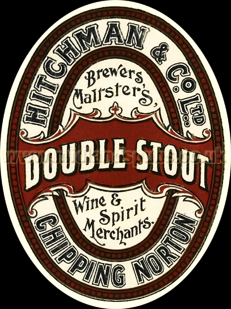 Hitchman's Brewery Double Stout Beer Label from Chipping Norton in Oxfordshire [1930s]