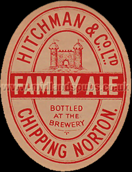 Hitchman's Brewery Family Ale Beer Label from Chipping Norton in Oxfordshire [1930s]