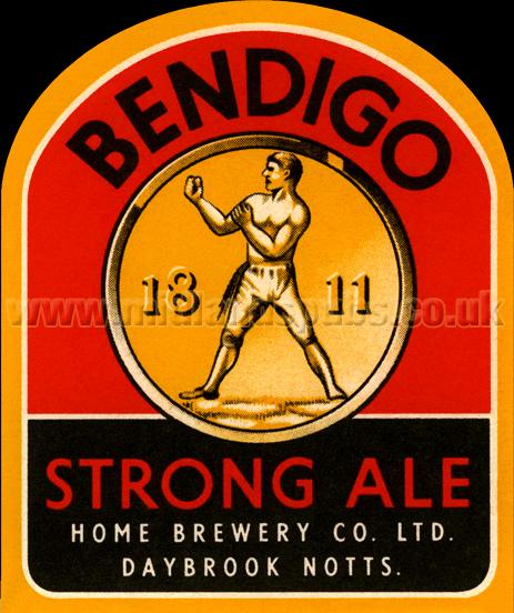Home Brewery Bendigo Strong Ale Beer Label