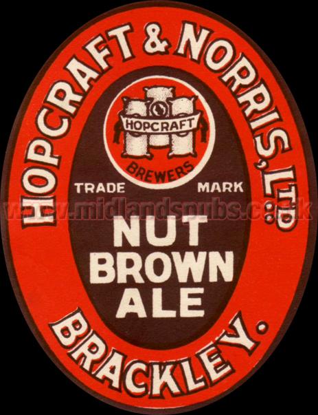 Hopcraft & Norris Nut Brown Ale Beer Label