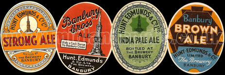Beer Labels issued by Hunt Edmunds and Co. Ltd. of Banbury