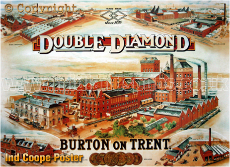 Burton-on-Trent :s Ind Coope Brewery Poster [c.1910]