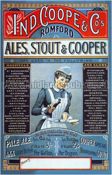 Ind Coope Ales, Stout & Cooper Advertisement [c.1898]