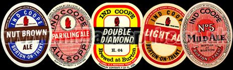 Ind Coope Beer Bottle Labels