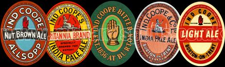 Ind Coope Beer Labels