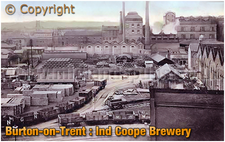 Burton-on-Trent :s Ind Coope Brewery [c.1905]