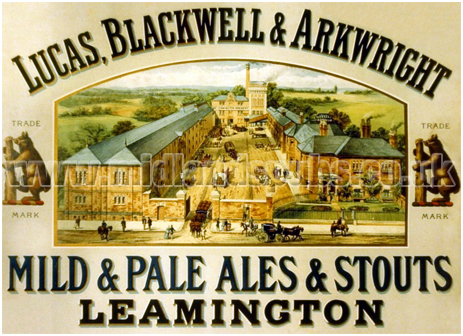 Advertisement for Lucas, Blackwell & Arkwright of Leamington