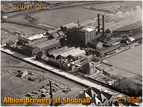 Burton-on-Trent : The Albion Brewery at Shobnall [c.1954]