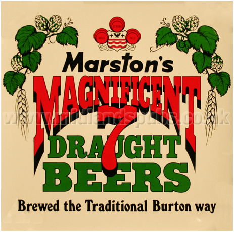 Marston's Magnificent 7 Draught Beers : Brewed The Traditional Burton Way