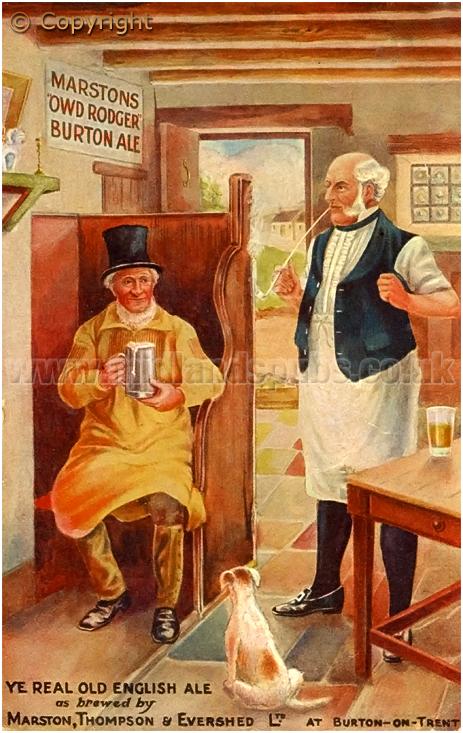 Advertisement for Marston's Owd Rodger Burton Ale [c.1912]
