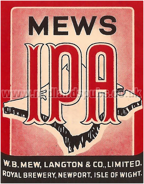 Mews IPA by W. B. Mew, Langton & Co. Ltd. of the Isle of Wight
