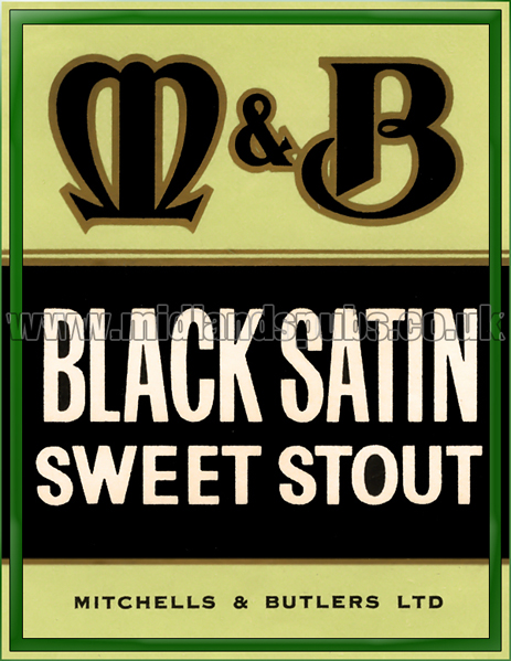 Mitchells's and Butler's Black Satin Sweet Stout