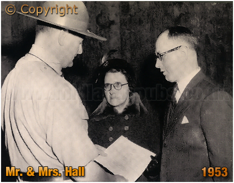 Mitchell's & Butler's : Mr. and Mrs. Hall with the Scout Commissioner S. Dawson Collins [1953]