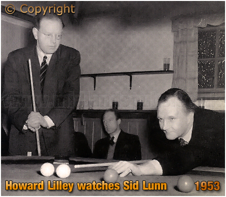 Mitchell's & Butler's : Howard Lilley watches Sid Lunn break off during the Social Club Snooker Final [1953]