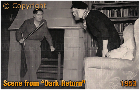 """Mitchell's & Butler's : Dramatic Society's Scene from the Production of """"Dark Return"""" [1953]"""
