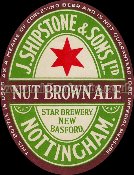 Shipstone's Nut Brown Ale Beer Label