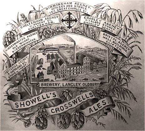 Advertisement for Showell's Brewery Company Ltd.
