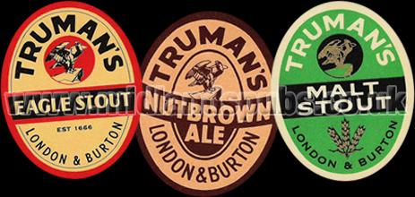 Truman's Beer Labels