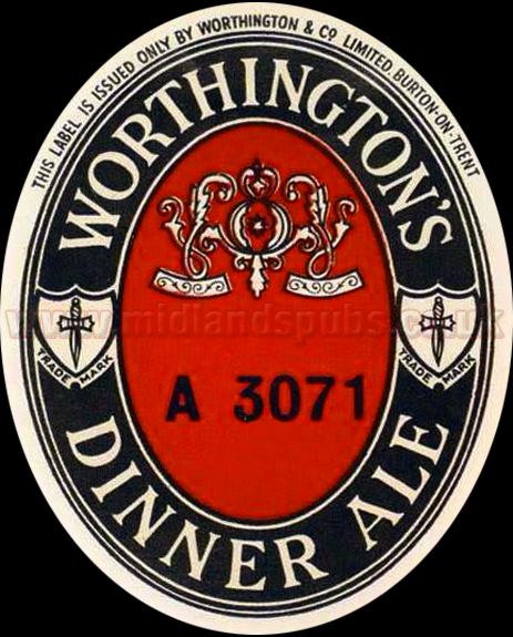 Worthington's Dinner Ale Beer Label