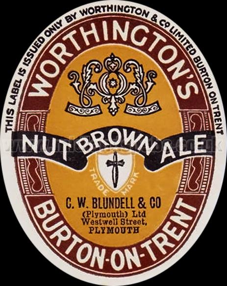 Worthington's Nut Brown Ale Beer Label