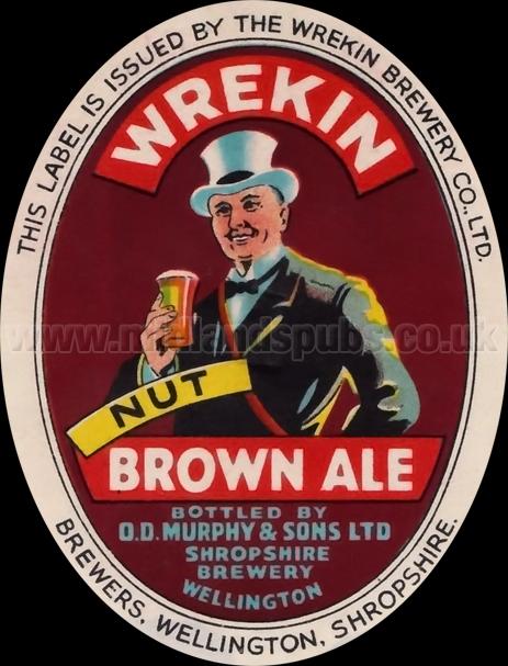 Wrekin Brown Ale Beer Label