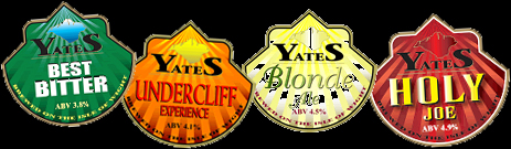 Pump Clips by Yates' Brewery of the Isle of Wight