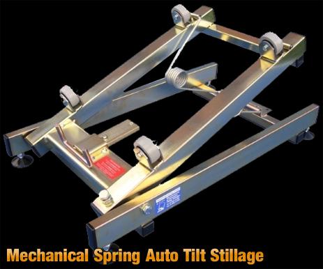 Mechanical Spring Auto Tilt Stillage or Cask Tilter