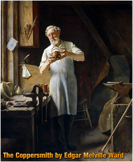 The Coppersmith [1898] oil on canvas by Edgar Melville Ward