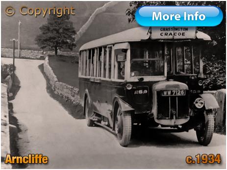 Yorkshire : Bus Crossing Bridge at Arncliffe [c.1934]
