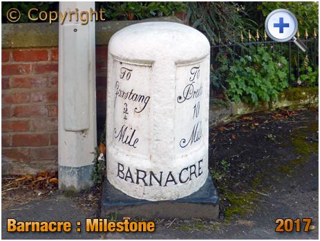 Garstang : Milestone at Barnacre-with-Bonds [2017]