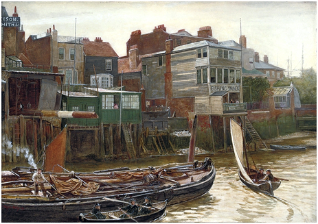 Cold Harbour, Blackwall by Charles Napier Henry [1896]