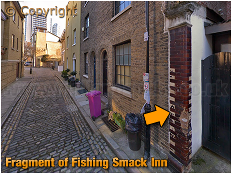 Blackwall : Fragment of the Fishing Smack Inn at Cold Harbour