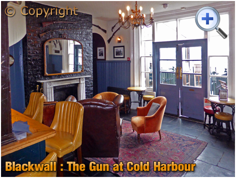 Blackwall : Interior of The Gun at Cold Harbour