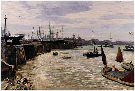 Blackwall, London 1872 by Charles Napier Henry [Museum of London]