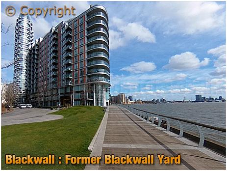 Riverside Path at the former Blackwall Yard