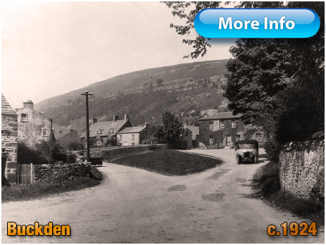 Yorkshire : Bus leaving from the Buck Inn at Buckden [c.1924]