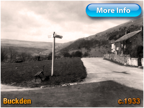 Yorkshire : Road Sign Post at Buckden in the Dales [1933]