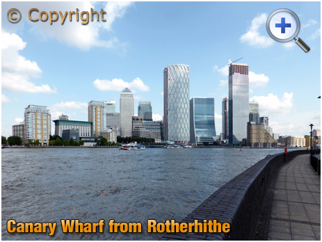 London : Canary Wharf from Rotherhithe