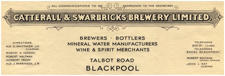 Letterhead of Catterall & Swarbrick Limited of Blackpool in Lancashire