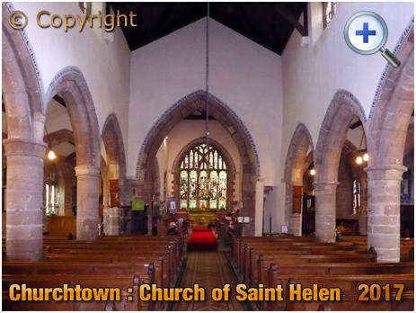 Churchtown : Interior of the Church of Saint Helen [2017]